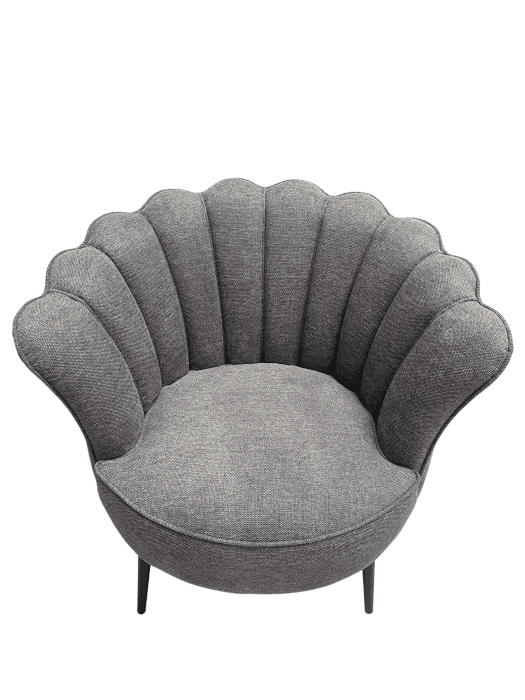 Fauteuil coquillage gris
