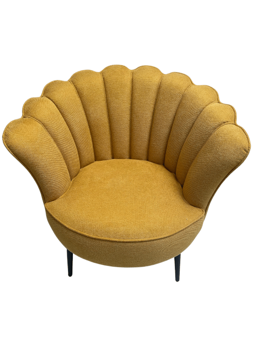 Fauteuil coquillage jaune