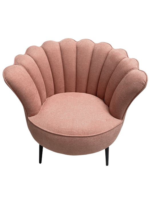 Fauteuil coquillage rose