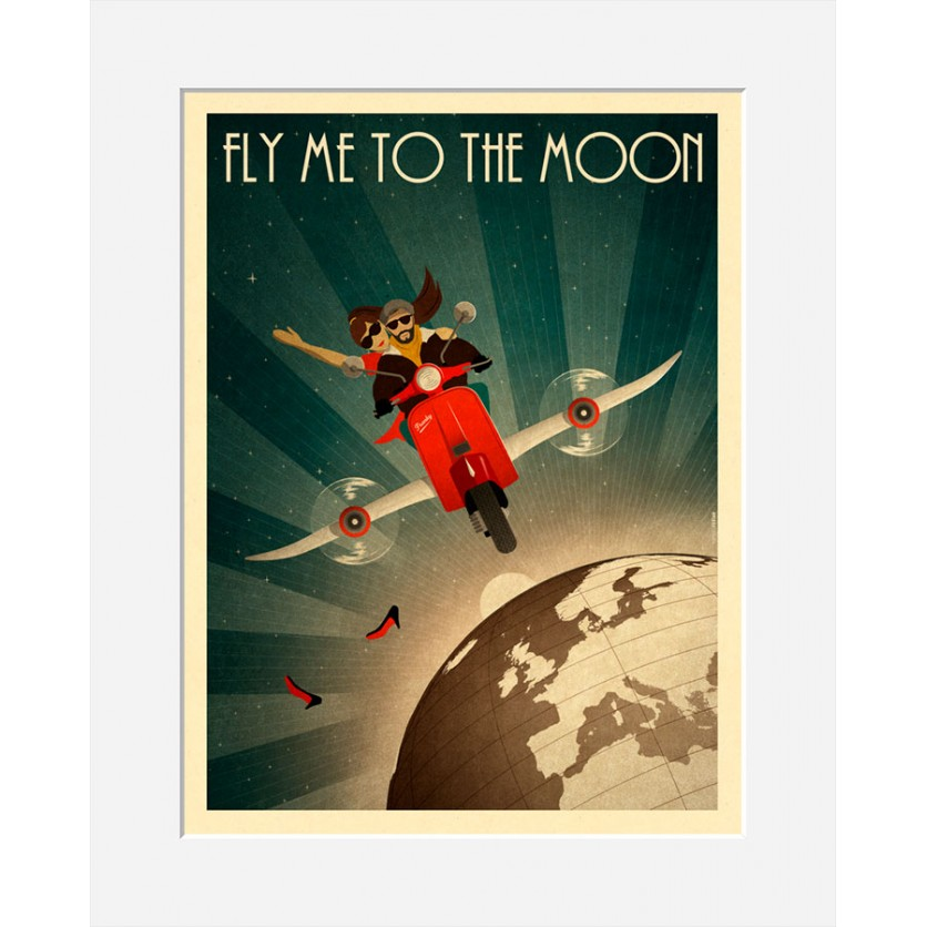 Tirage Persan - Fly me to the Moon